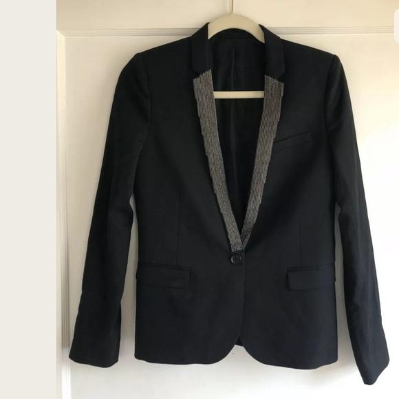 The Kooples Jackets & Blazers - The Kooples Black Chain Blazer Jacket Size 36 XS S